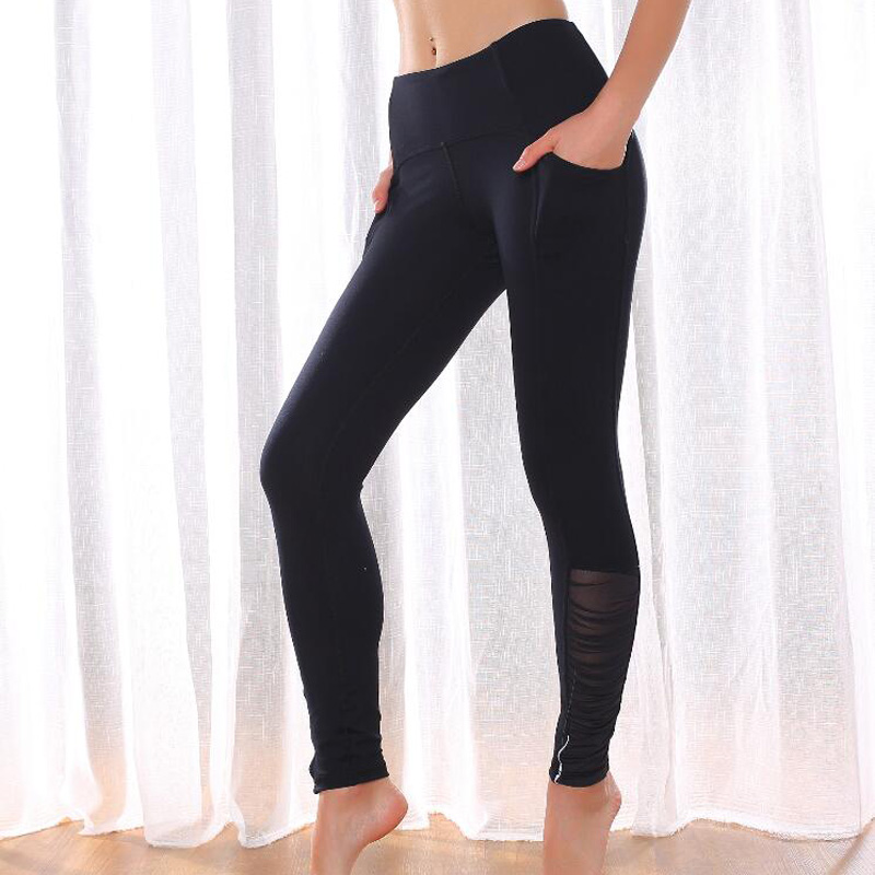 2020 New Leggings Sport Fitness Mesh Full Length Pants Sexy Sport Leggings