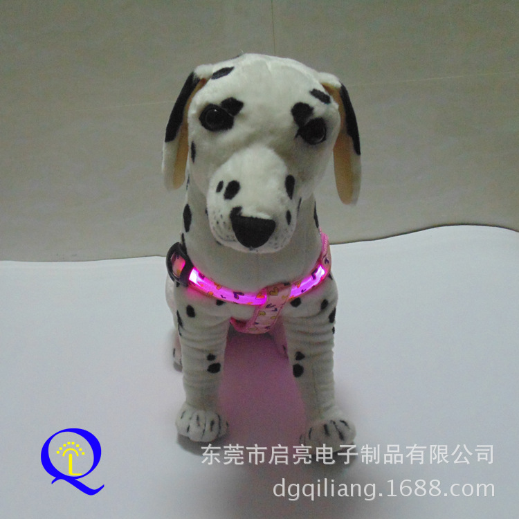 Decorative Pattern Pattern-LED Shining Dog Chest Strap Shining Hand Holding Rope Flash Pet Strap Small And Medium For Dogs