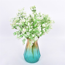Artificial Flower Grass Bouquet Simulation Floral Decor Home Wedding Plastic Fake