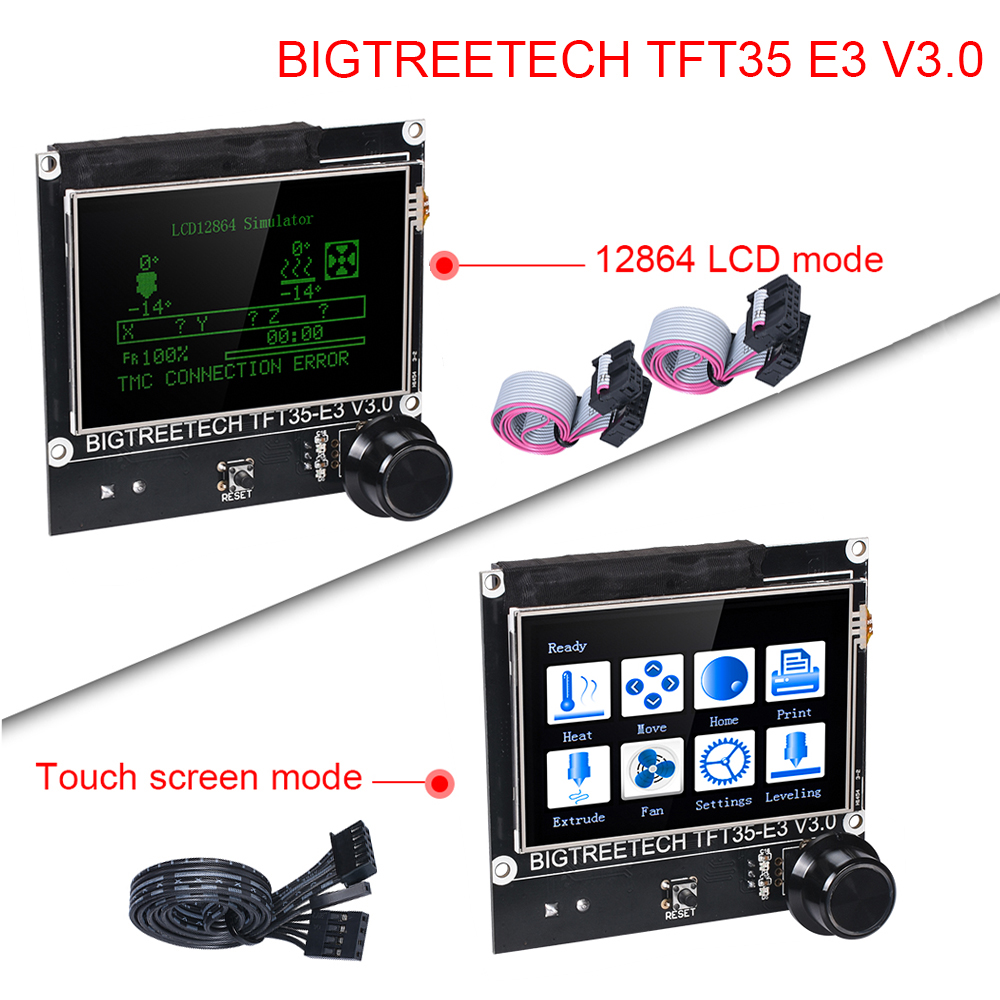 BIGTREETECH TFT35 E3 V3.0 Touch Screen/12864 LCD Display Control 3.5 inch 3D Printer Parts For Ender 3 SKR V1.3 PRO CR10 mini E3(China)