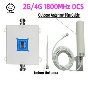 Image 1 - ZQTMAX LTE 1800 2g 4g Cellular Signal Amplifier gsm Cell Phone Signal Repeater DCS 1800MHz Signal Booster 12dBi 4g Antenna