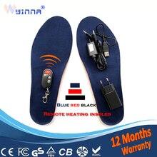 Usb электрически нагревающиеся стельки с пультом дистанционного управления для ног теплые для женщин обувь зимние уличные теплые стельки европейские размеры 35-46