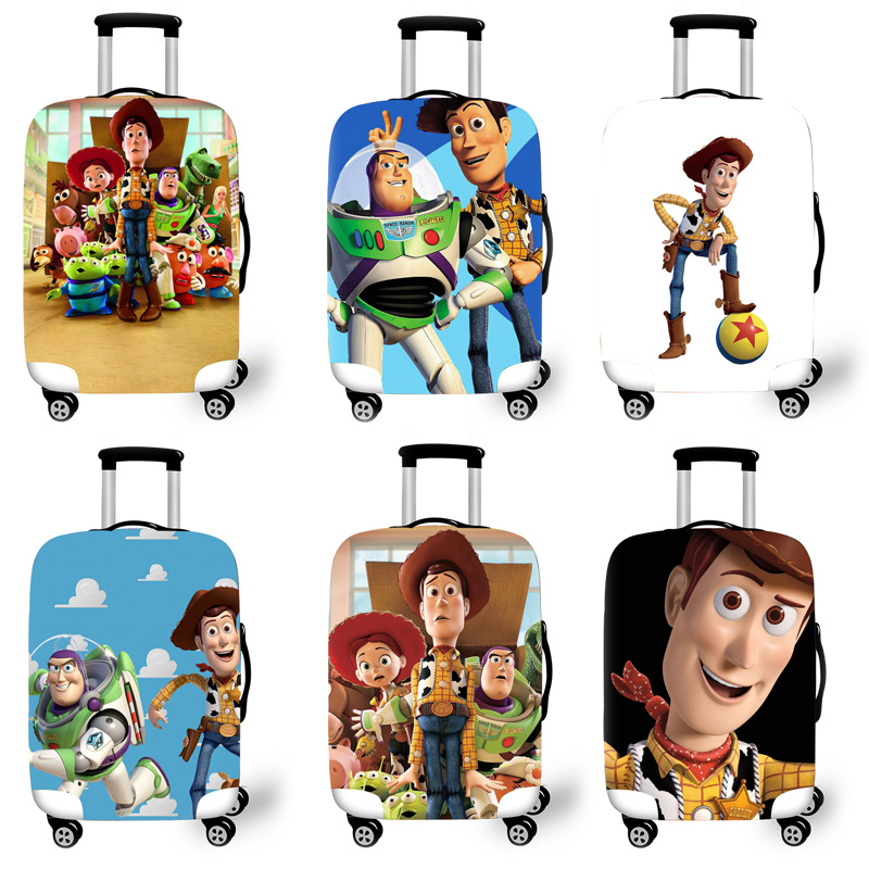 Elastic Luggage Protective Cover Case For Suitcase Protective Cover Trolley Cases Covers 3D Travel Accessories Man Pattern T1230