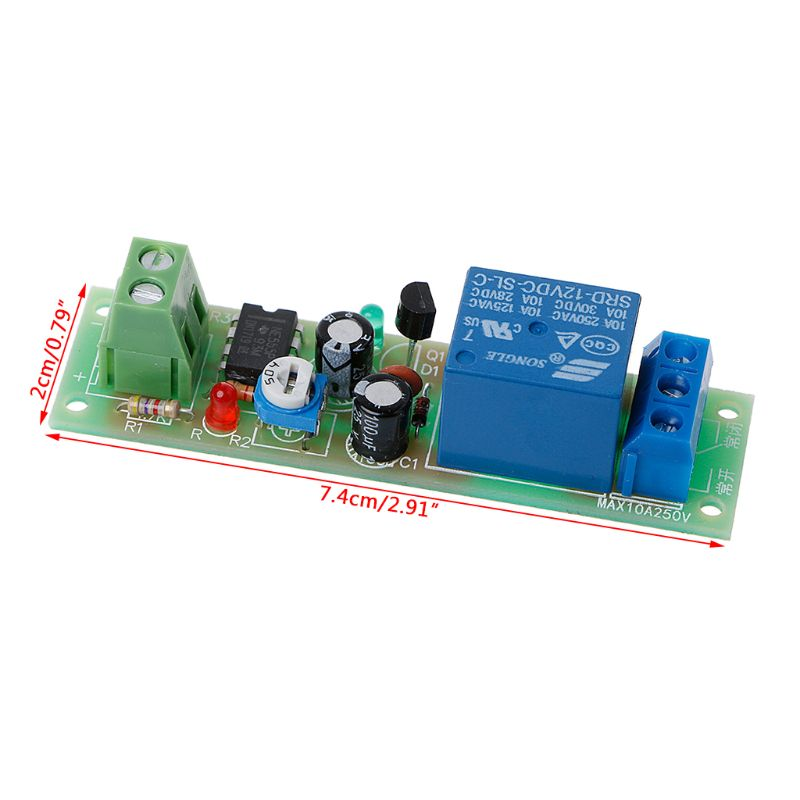 NE555 Relay DC 12V Timer Adjustable Delay Turn Off ON Switch Time Relay Module