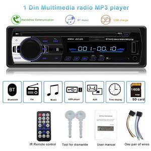 Fm transmiter JSD-520 Car Bluetooth Stereo Audio Radio Hands-free AUX USB MP3 Player for switch payload беспроводная зарядка(China)