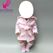 18 inch american doll clothes Bathrobe with sock for Baby suit  set