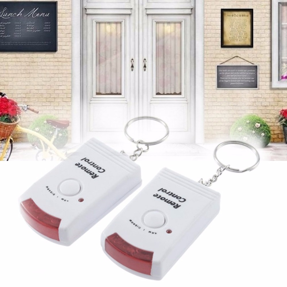 IR Infrared Sensor Security Detector Home System 2 Remote Control Wireless IR Infrared Motion Sensor Alarm Security Detector New