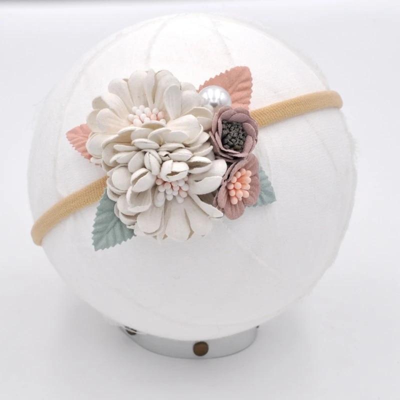 baby flower crown handmade nylon headband Floral Headband