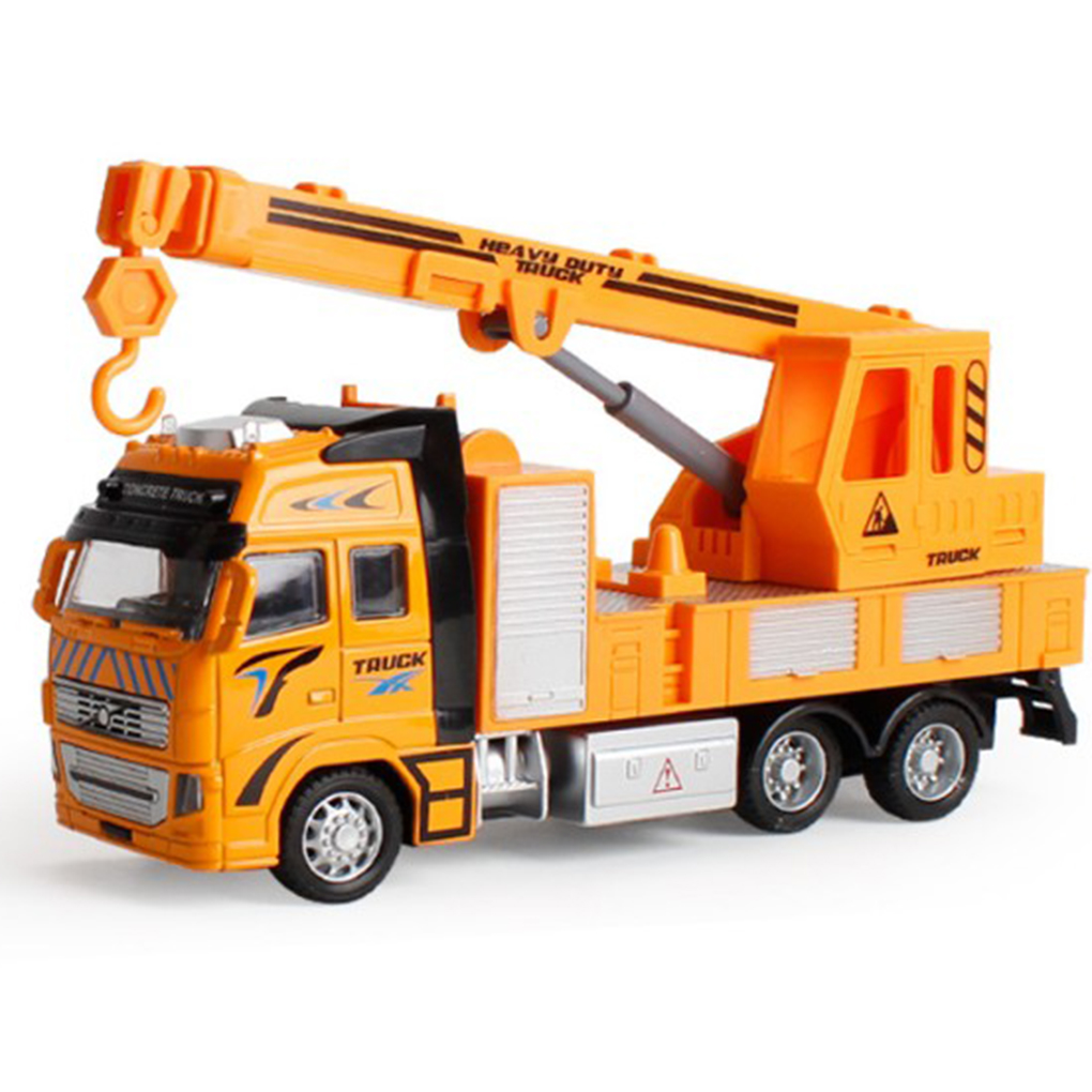 Kids 1:18 Pull Back Alloy ABS Engineering Crane Model Toy Children Vehicle Model Boys Holiday Gift With Original Box