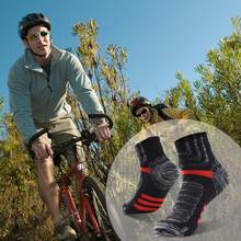 RANDY SUN Ankle or Kneehigh Waterproof Sports Socks Breathable Windproof Sweat Wicking Soft Outdoor Hiking Fishing Cycling Socks