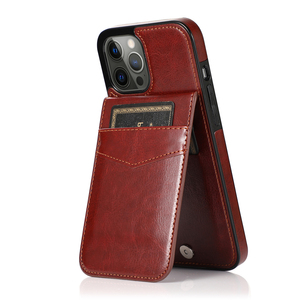 Image 2 - 2021 NEW Vertical Leather Flip Cover Case For iPhone 12 12 PRO MAX X XS Card Holder Cases For iPhone 6 6S 7 8 Plus 11 11 Pro Max