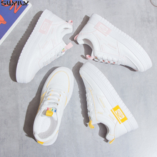 SWYIVY Chaussure White Sneakers Women Casual Shoes