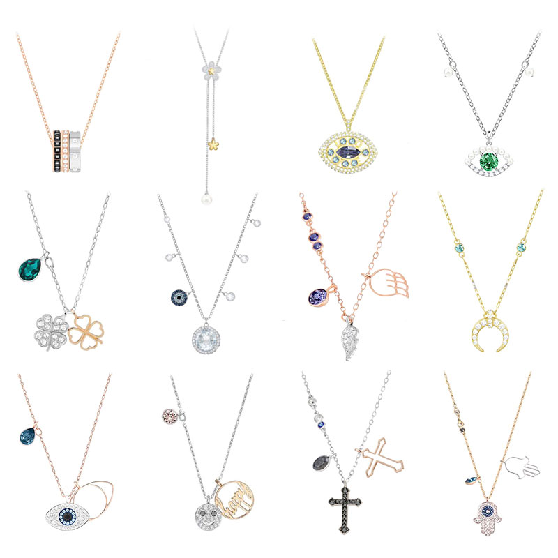 High Quality Swa Original Devil's Eye Cross Clover U-shape Is Suitable For Women To Party.