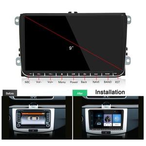 Image 2 - Podofo 2 + 32Gb/1 + 16Gb Auto Radio Stereo 9 Multimedia Speler Autoradio Spiegel Link voor Vw Passat Golf MK5 MK6 Jetta Touran Seat