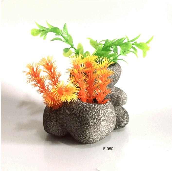 Aquarium Decoration Stone Vase Fish Tank Decoration Rock - Zoobig