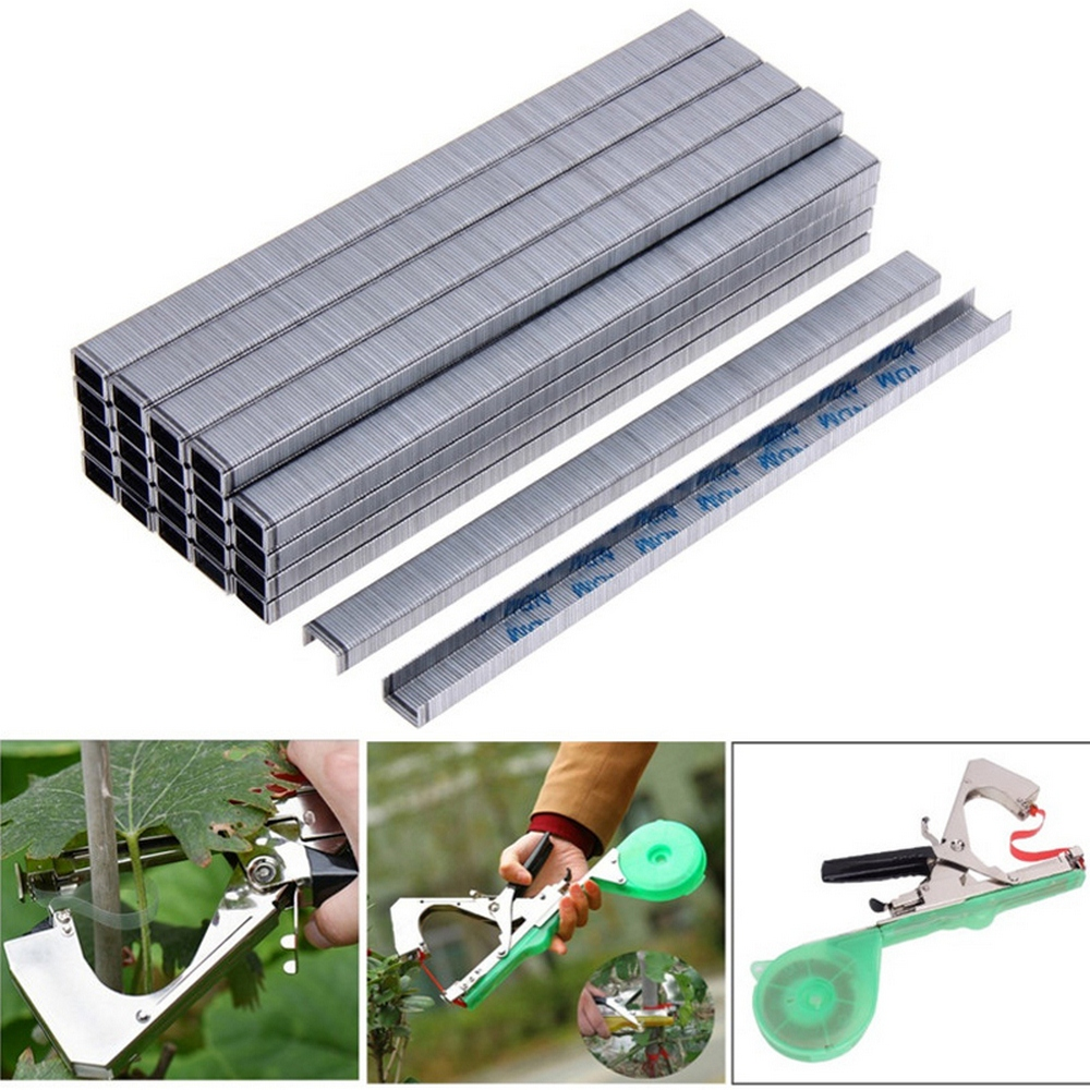 10000pcs Tying Staple Pin Nail Tape Tool Fruit Tree Secateurs Machine Pack Plant Garden Trunk Connect A20 Tying Machine Strap