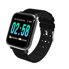 A6 Smart bracelet Newest chip blood pressure measure Sport Waterproof Wrist Watch Fitness Tracker for Android IOS(Black)