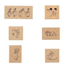 1pc Vintage Wooden Rubber Stamps Set Plant Tree Flower For Card Diy Stamp Notebook Making Scrapbooking Number Diary Decorat P4V9