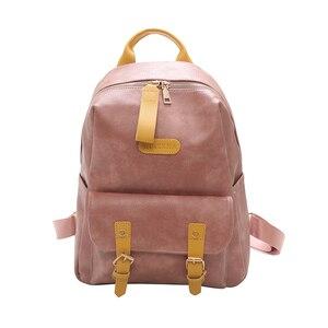 Image 5 - גבוהה באיכות נשים תרמיל עור מפוצל בית ספר נערות Bookbags נשי כתף תיק Bolsos דה Mchila דה Mujer