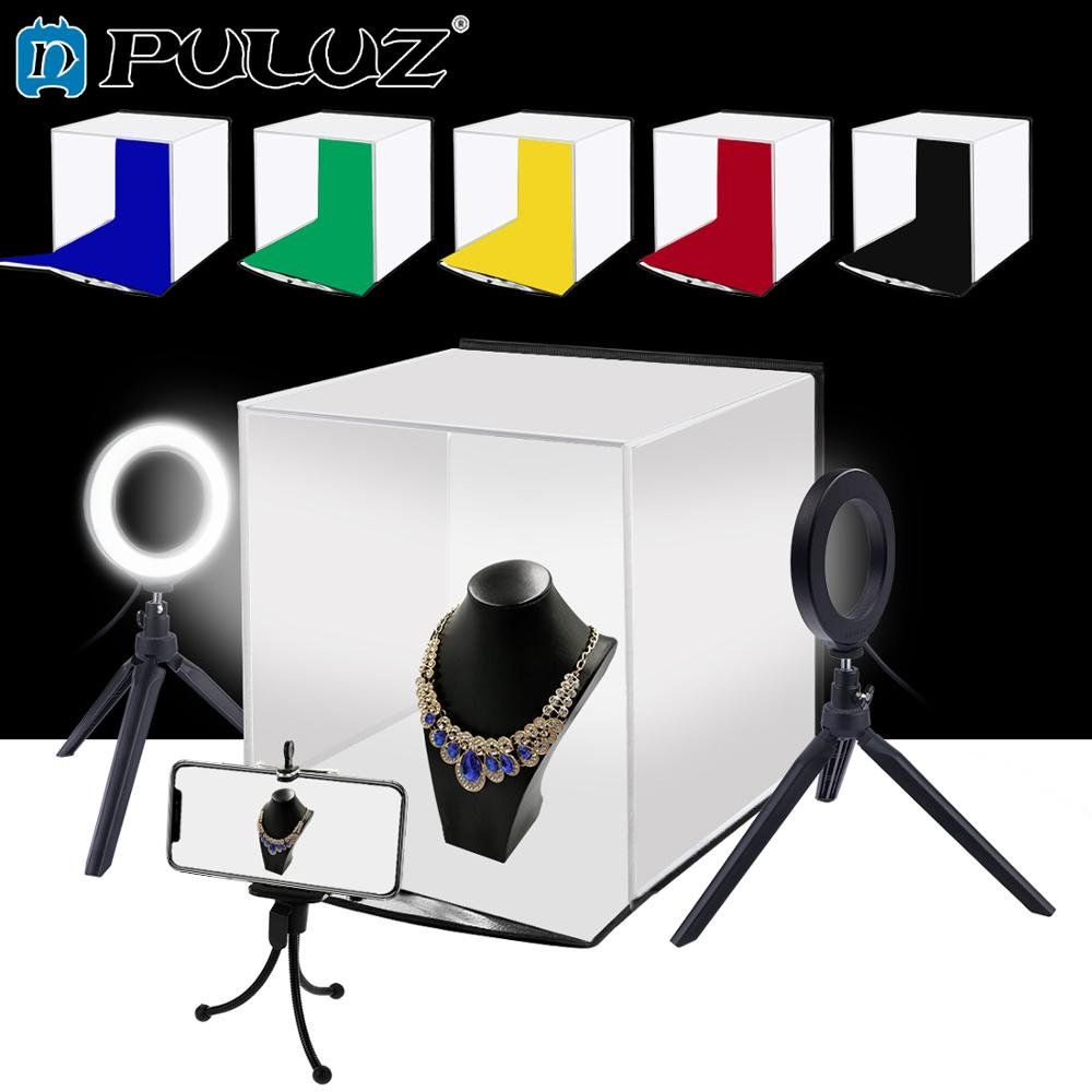 PULUZ 30cm Photo Softbox Portable Folding Studio Shooting Tent Box Kits with 6 Colors Backdrops Red