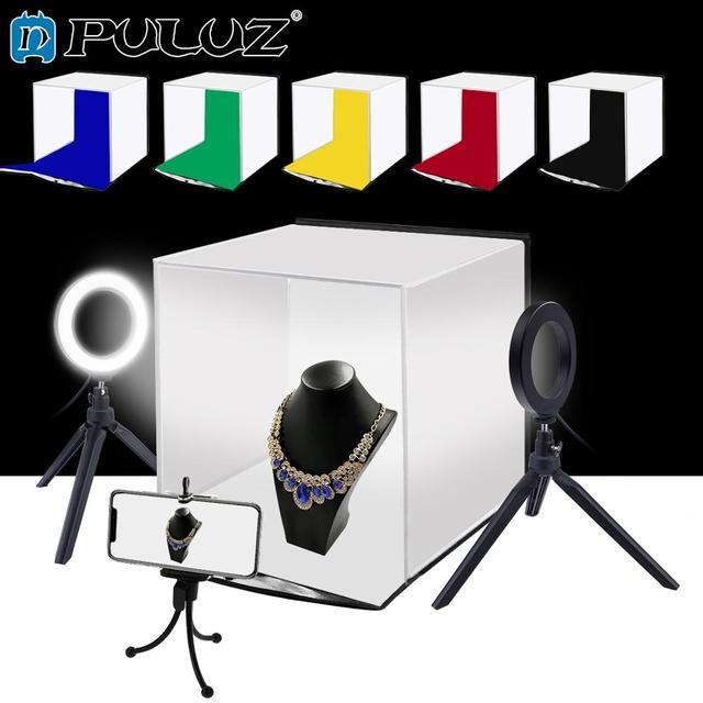 PULUZ 30 ซม Softbox แบบพกพาพับสตูดิโอถ่ายภาพเต็นท์กล่องชุด 6 สี (สีแดง, สีเขียว,สีเหลือง,สีฟ้า,สีขาว