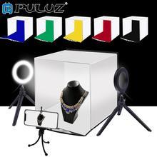 PULUZ 30cm תמונה Softbox נייד מתקפל סטודיו ירי אוהל תיבת ערכות עם 6 צבעים תפאורות (אדום, ירוק, צהוב, כחול, לבן