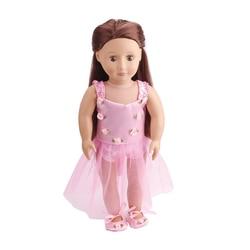 18 дюймов американская кукла для девочек платье для маленьких принцесс кружевные платья для новорожденных юбка игрушки аксессуары подходят...