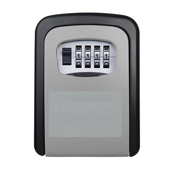 New Key Lock Box Wall Mounted Aluminum alloy Key Safe Box Weatherproof 4 Digit Combination Key Storage Lock Box Indoor Outdoo недорого