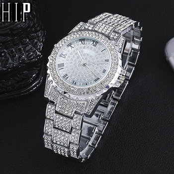 Hip Hop Luxury Mens Iced Out Watches Date Quartz Wrist Watches With Micropave CZ Alloy Watch For Women Men Jewelry hip hop luxury mens iced out cz waterproof watches date quartz wrist watches with micropave alloy watch for men jewelry