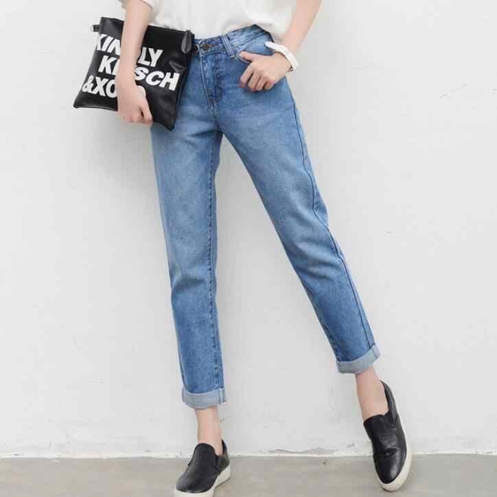 Mama Cintura Vintage Denim Pantalones Para Mujeres Chicas Adolescentes Jeans Pantalones Para Novio Femme Vaquero De Alta Calidad De Gran Tamano De Talla Grande Pantalones Vaqueros Aliexpress