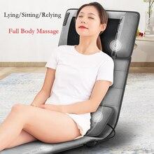 Full Body Electric Massage Cushion Heating Infrared Vibrator for Head Neck Back Massager Relieve Pain Massage Chair Massageador