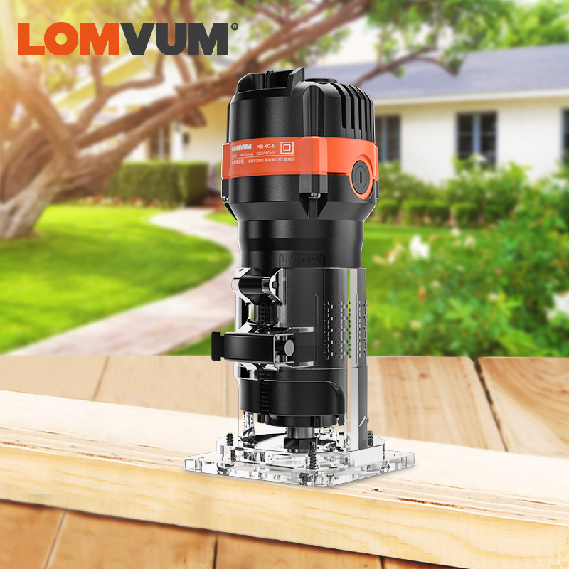 LOMVUM Woodworking Electric Trimmer Renovator Cutter Engraving Slotting Trimming Machine Hand Carving Machine Wood Router