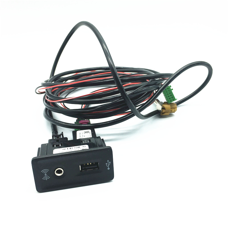 CarPlay <font><b>USB</b></font> AUX Switch CarPlay AMI MDI MIB Phone Mapping Adapter Plug Socket Install Wiring Harness Cable For <font><b>VW</b></font> <font><b>Golf</b></font> <font><b>7</b></font> MK7 VII image