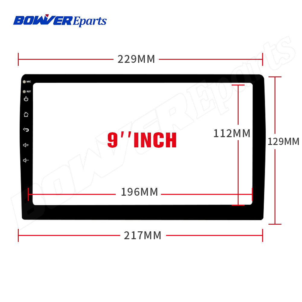 229*129*217MM 9inch Fiber Tempered Glass Protective Film Sticker For 9 Inch Car Radio Stereo DVD GPS Touch Full LCD Screen
