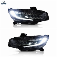 Vland factory car accessories for Car full LED lights for Civic headlight 2016 2018 with white DRL and yellow moving turn signal