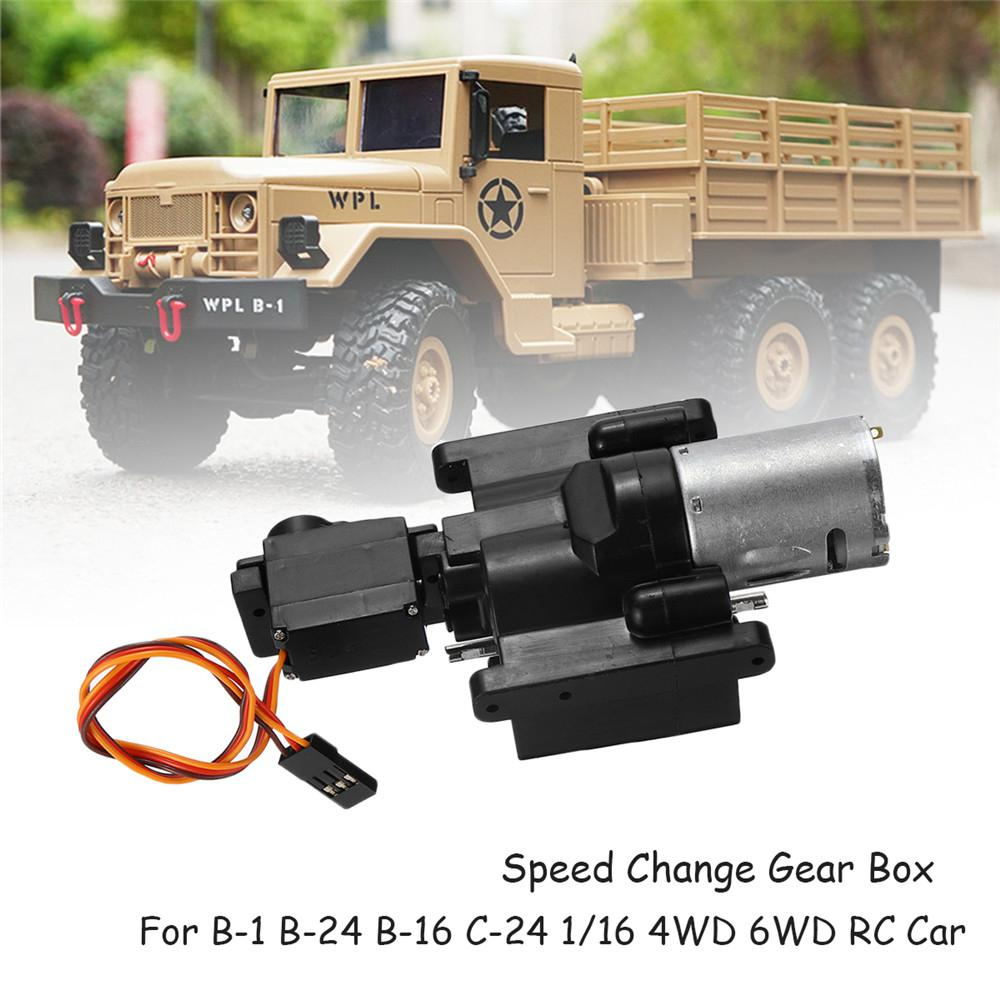 Kuulee WPL Speed Change Gear Box For WPL B1 B24 B16 B36 C24 1/16 4WD 6WD Rc Car