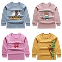Jesień zima odzież dla dzieci maluch chłopiec ubrania dla niemowląt z długim rękawem bawełna T Shirt dziewczyny bielizna termiczna Kid Warm Innerwear tanie tanio COTTON CN (pochodzenie) Cartoon Long Johns Pasuje prawda na wymiar weź swój normalny rozmiar Unisex