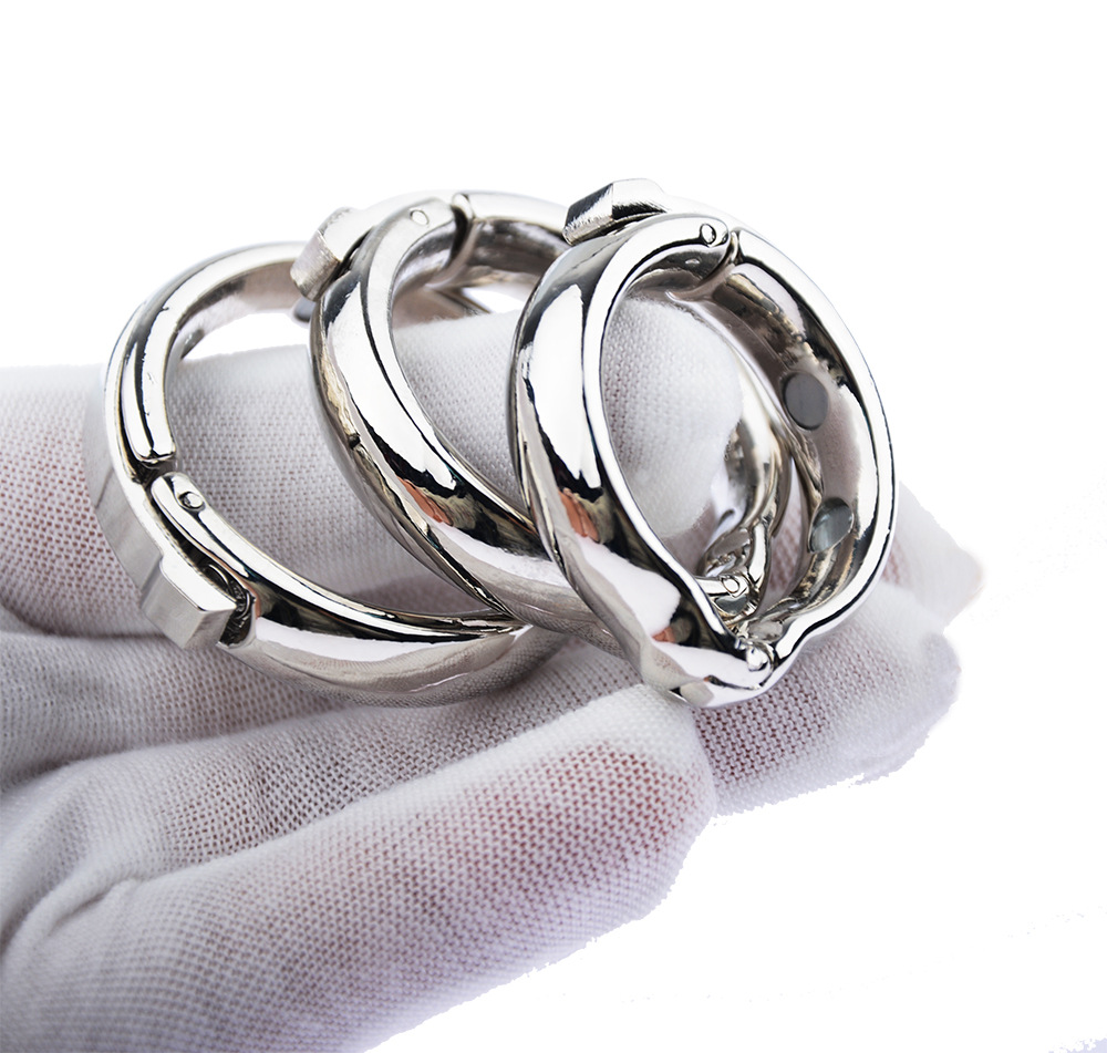 Magnet Cock Penis Ring Metal Penis Sleeve For Male Extender Penis Enlargement Condoms Sex Toys Intimate Goods Ring On The Penis