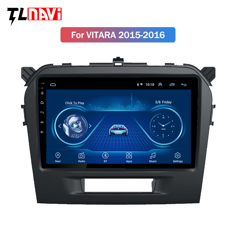 9 дюймов Android 8,1 Автомобильный мультимедийный dvd плеер для Suzuki Vitara 2015 2016 2017 2018 2019 gps навигации радио BT WI FI карта