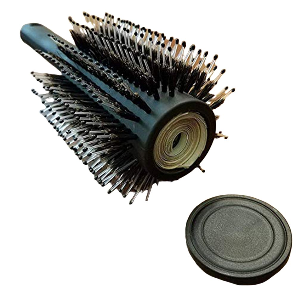 Hair Brush Roller Comb Storage Box Hair Brush Case Secret Stash Box Hollow Container Outdoor Travel Storage Cash