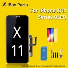 IBee חלקי Amoled Oled מסך עבור iPhone X XS MAX XR 11 LCD זכוכית מגע מסך עצרת החלפת קר מסגרת