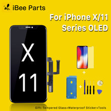 Ibee Onderdelen Amoled Oled scherm Voor Iphone X Xs Max Xr 11 Lcd Glas Touch Screen Assembly Vervanging Koud Frame