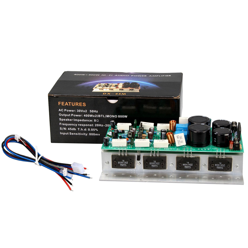 SanKen1494/3858 <font><b>HIFI</b></font> <font><b>Amplifier</b></font> Board Stereo 450W+450W High Power Dual Channel AMP Mono <font><b>800W</b></font> Audio Speaker <font><b>Amplifiers</b></font> Board image
