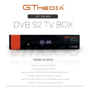 Image 2 - GTMedia V8 نوفا كامل HD H.265 DVB S2 فك استقبال الأقمار الصناعية أوروبا اسبانيا استقبال الأقمار الصناعية بنيت في واي فاي Freesat V9 سوبر