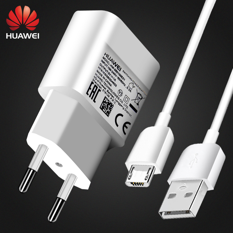 Original Huawei <font><b>Charger</b></font> Micro USB <font><b>5V</b></font> 1A Adapter Micro Cable Orginal For G9lite P8 lite Mate 7 8 s Honor 8lite Enjoy 8e 6s 9e 7s image