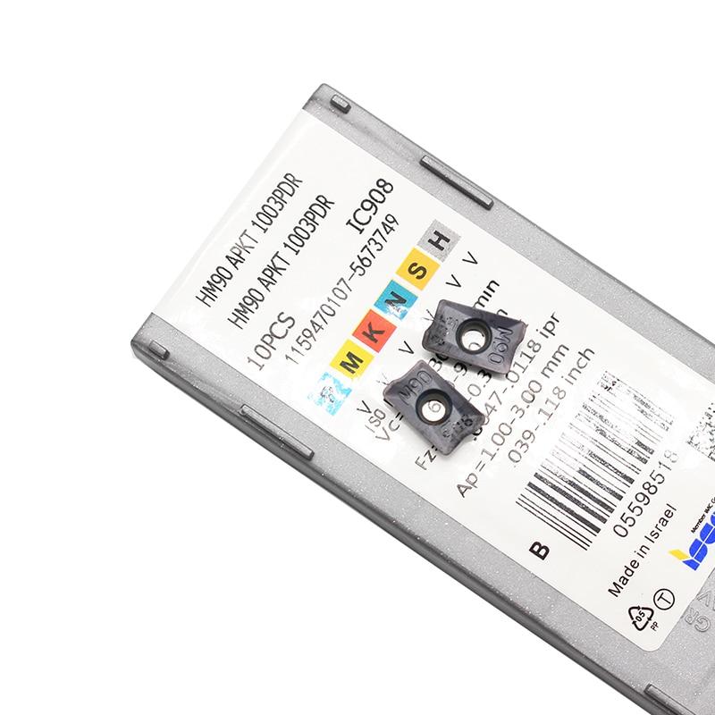 10psl. HM90 APKT 1003PDR IC908 Išoriniai tekinimo įrankiai Karbido - Staklės ir priedai - Nuotrauka 6