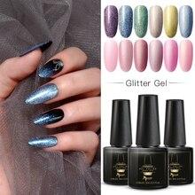 Mtssii 6ml UV Glitter Gel Nail Polish Long Lasting Color Nai