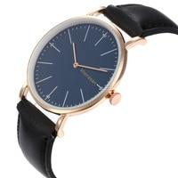 Men's fashion simple belt quartz watch + bracelet Set (5PCS/Set) men's watches