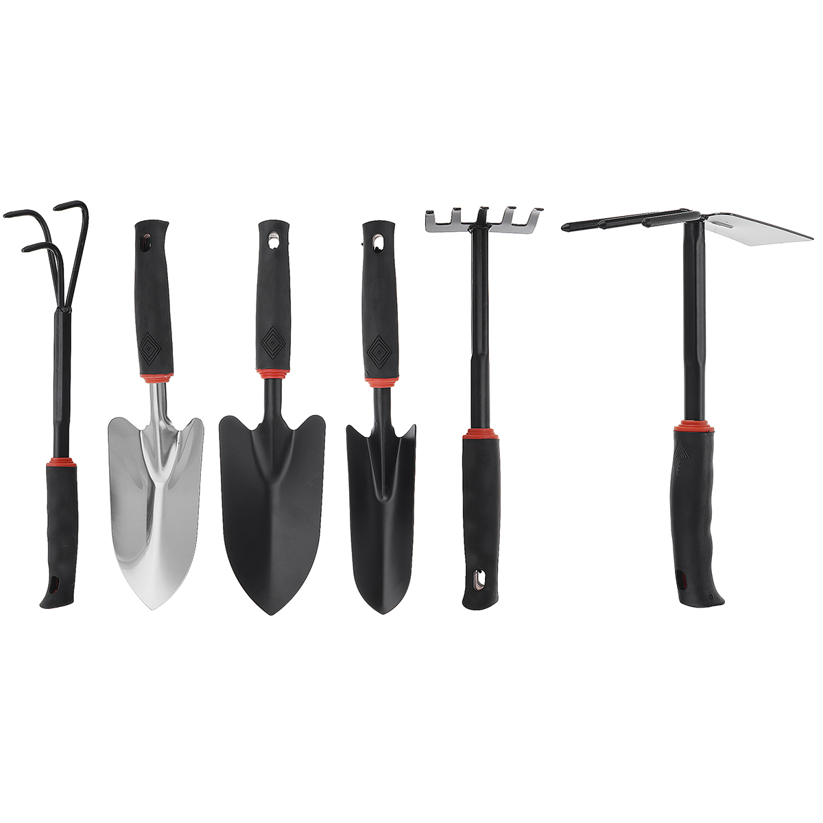 Durable Steel Hand Weeding Fork Transplanting Digging Tool Trowel Shovel Hoe 3/5 Pronged Rake For Garden Planting Hand Tool