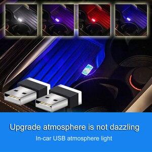 Image 2 - Mini USB Light LED Modeling Car Ambient Light Neon Interior Light Car Jewelry (7 kinds of light colors)